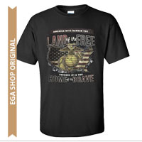 _T-Shirt (Cotton): Home of the Brave