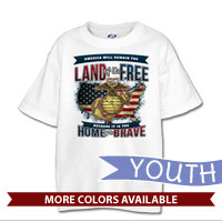 _T-Shirt (Youth): Home of the Brave