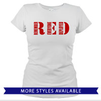 _T-Shirt (Ladies): RED
