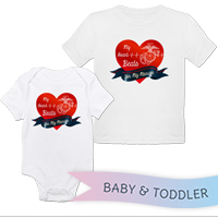 _T-Shirt/Onesie (Toddler/Baby): My Heart Beats...