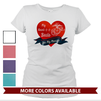 _T-Shirt (Ladies): My Heart Beats...