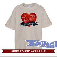 _T-Shirt (Youth): My Heart Beats...