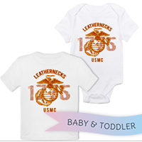 _T-Shirt/Onesie (Toddler/Baby): Leathernecks USMC