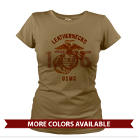 _T-Shirt (Ladies): Leathernecks USMC