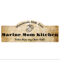 Hardboard Sign: Marine Mom Kitchen