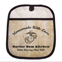 Potholder with Pocket: Marine Mom Kitchen