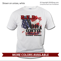 _T-Shirt (Unisex): R.E.D. with Flag