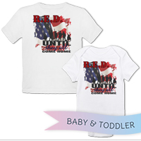 _T-Shirt/Onesie (Toddler/Baby): R.E.D. with Flag