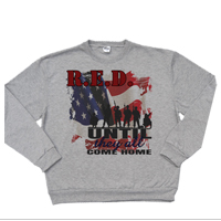_Hoodie or Sweatshirt: R.E.D. with Flag