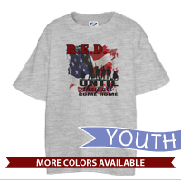 _T-Shirt (Youth): R.E.D. with Flag