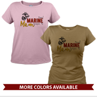 _T-Shirt (Ladies): Proud Marine Mom Semper Fi