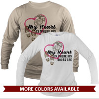 _Long Sleeve Shirt (Unisex): My Heart is Where His/Her Boots Are