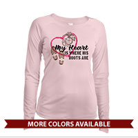 _Long Sleeve Solar Shirt (Ladies): My Heart is Where His/Her Boots Are