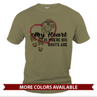 _T-Shirt (Unisex): My Heart Is Where His/Her Boots Are
