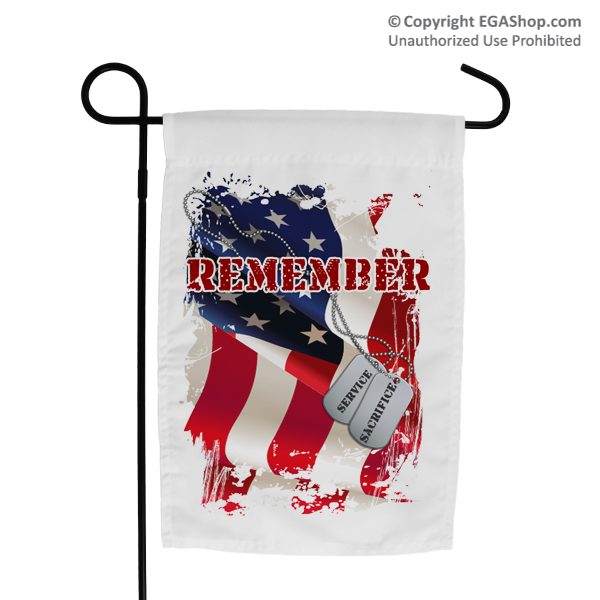 Garden Flag: Remember-Service & Sacrifice