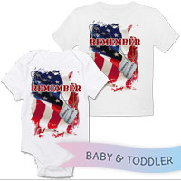 _T-Shirt/Onesie (Toddler/Baby): Remember-Service & Sacrifice