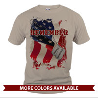 _T-Shirt (Unisex): Remember-Service & Sacrifice