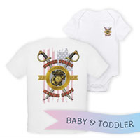 _T-Shirt/Onesie (Toddler/Baby): Swords with Flag