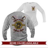 _Long Sleeve Shirt (Unisex): Swords with Flag