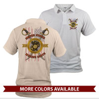 _Polo (Unisex): Swords with Flag