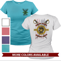 _T-Shirt (Ladies): Swords with Flag