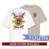 _T-Shirt (Youth): Swords with Flag