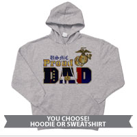 _Hoodie or Sweatshirt: Dress Blue Dad