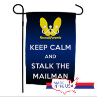 Garden Flag: Keep Calm & Stalk the Mailman