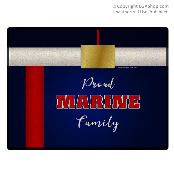 Doormat: Proud Marine Family Dress Uniform