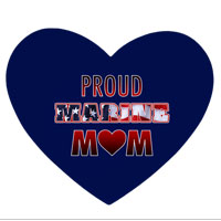 Mousepad, Heart-shaped: Proud Marine Mom - Heart