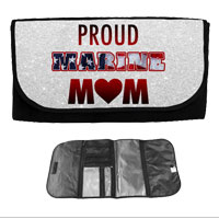 Travel Wrap Bag (Glitter): Proud Marine Mom - Heart