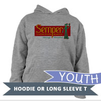 _Youth Long Sleeve Shirt: Semper Fi Gumby