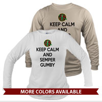_Long Sleeve Shirt (Unisex): Keep Calm, Semper Gumby