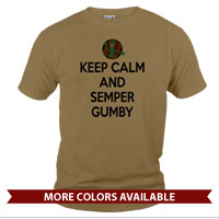 _T-Shirt (Unisex): Keep Calm, Semper Gumby