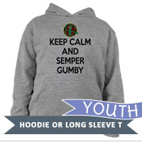 _Youth Long Sleeve Shirt: Keep Calm, Semper Gumby