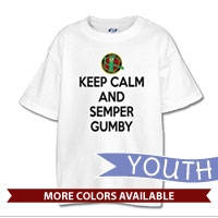 _T-Shirt (Youth): Keep Calm, Semper Gumby