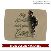 Car Flag: My Marine has your Back (Double-sided, 11x14 w/ pole)