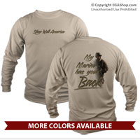 _Long Sleeve Shirt (Unisex): My Marine Has Your Back