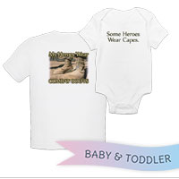 _T-Shirt/Onesie (Toddler/Baby): My Heroes Wear Combat Boots