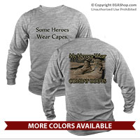 _Long Sleeve Shirt (Unisex): My Heroes Wear Combat Boots