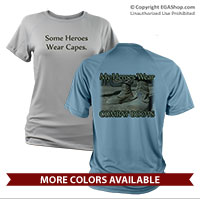 _Performance Shirt: My Heroes Wear Combat Boots