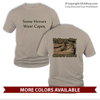 _T-Shirt (Unisex): My Heroes Wear Combat Boots