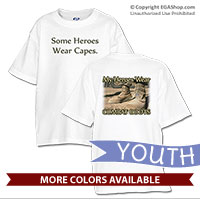 _T-Shirt (Youth): My Heroes Wear Combat Boots