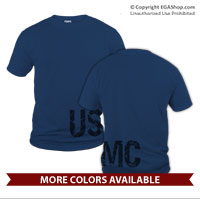 _T-Shirt (Unisex):  USMC Wrap Around