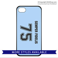Cell Phone Cover: Varsity Semper Fidelis 75