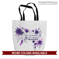 Tote Bag: I may look harmless... -floral