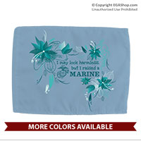 Car Flag: I may look harmless... -floral
