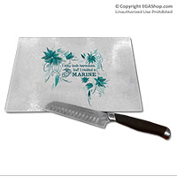 Cutting Board: I may look harmless... -floral
