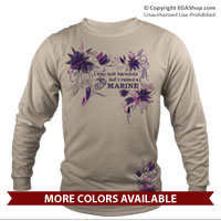 _Long Sleeve Shirt (Unisex): I may look harmless... -floral