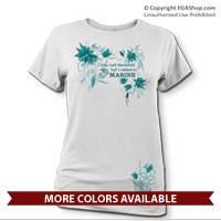_Performance Shirt: I may look harmless... -floral